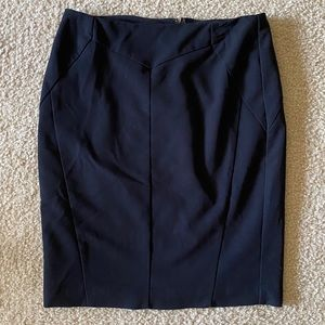 Worthington Zippered Back Black Skirt